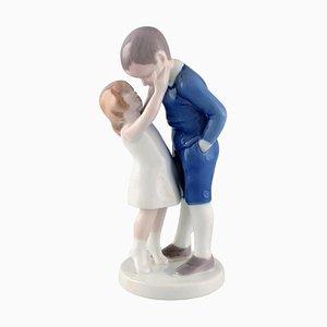Porcelain Boy and Girl Figure by Michaela Ahlmann for Bing & Grondahl, 1920s
