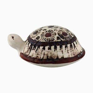 Turtle in Glazed Ceramic by Lisa Larson for Gustavsberg, 1980s