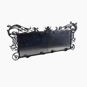 Large 19th Century Wrought Iron Mirror