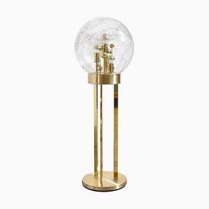 Moderne Stehlampe aus Glas & Messing von Doria Leuchten, 1950er