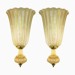 Large Wall Lights from Barovier & Toso, 1960s, Set of 2