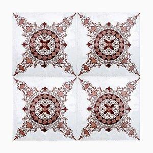 Dark Red-Brown Ceramic Tile by Societe Morialme, 1930s