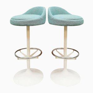 Space Age Ice Blue Tulip Barstool, 1970s
