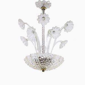 Chandelier by Fritz Kurz for Orrefors, 1950s