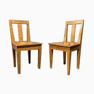 Swedish Painted Side Chairs, 1930s, Set of 2