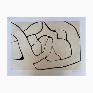 Composition 1 de Conrad Marca-Relli, 1977