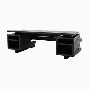 Schreibtisch aus Iroko Holz von Arno Declercq
