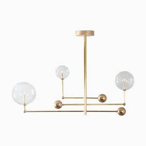Brass Chandelier by Schwung