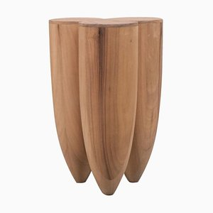 Senufo Stool Natural in African Walnut by Arno Declercq