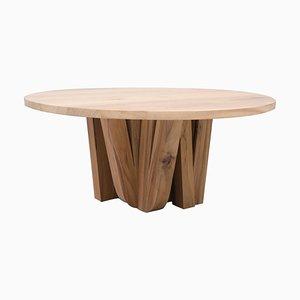 Runder Zoumey Tisch aus afrikanischem Nussholz von Arno Declercq