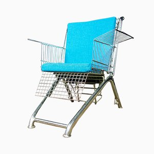 Stuhl aus Altem Einkaufswagen
