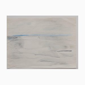 Landscape - Original Pencil and Watercolor Drawing - 20th Century 20th Century
