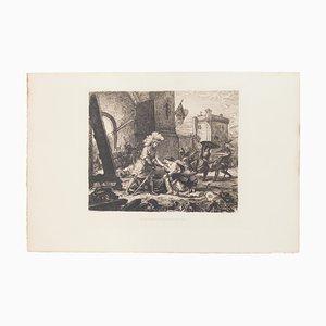 La Delivrance De La Princesse Olga - Etching by M.Roux after E. Delacroix - 1911 1911