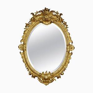 Specchio da parete Rococo Revival in legno dorato
