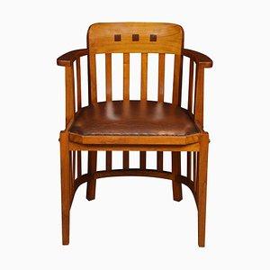 Walnut Office Armchair, 1940s