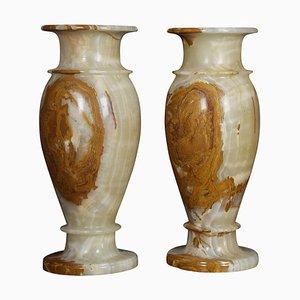 Large Onyx Vases, 1940s, Set of 2