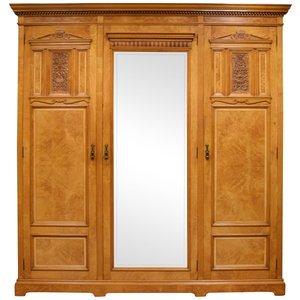 Antique 3-Door Maple & Co Wardrobe