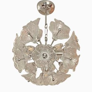 Mid-Century Sputnik Murano Ceiling Lamp by Paolo Venini for VeArt