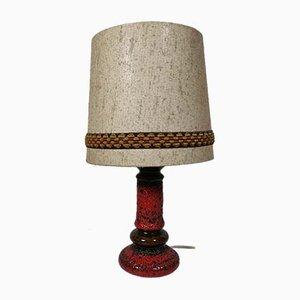 Große Space Age Fat Lava Tischlampe aus Keramik, 1970er