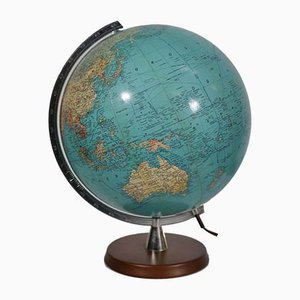 Vintage Illuminated Globe with Tulip Foot from Marco Polo