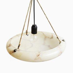 Art Deco Glass Ceiling Lamp, 1920s
