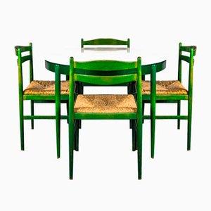 Vintage Esstisch & Stühle im Stil von Lübke, 1960er, 5er Set