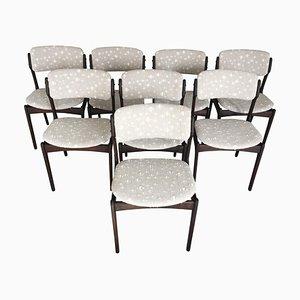 Chaises de Salon Tannées en Chêne par Erik Buch pour Odense Maskinsnedkeri / OD Møbler, 1960s, Set de 8