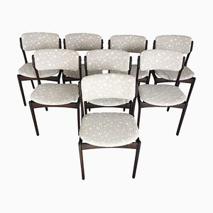 Esszimmerstühle aus gegerbter Eiche von Erik Buch für Odense Maskinsnedkeri / OD Møbler, 1960er, 8er Set