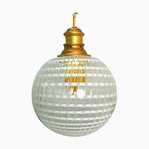 Vintage Murano Glass Suspension Lamp from Stilux Milano, 1970s