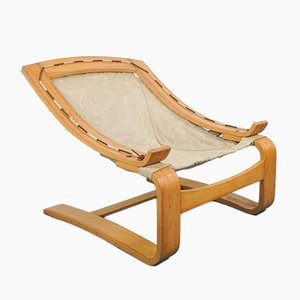 Scandinavian Wooden Lounge Chair in the Style of Alvar Aalto, 1970s