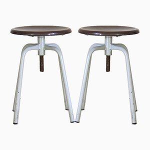 Vintage Adjustable Stools, 1970s, Set of 2