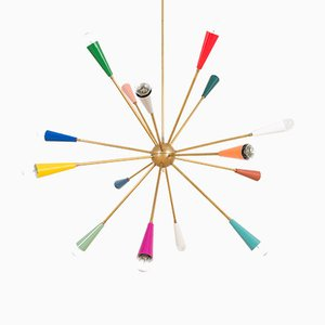 Large Italian Colorful Sputnik Lamp