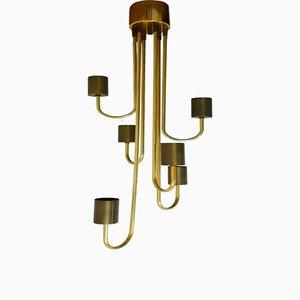 Plafonnier à 6 Luminaires Vintage par Goffredo Reggiani pour E Design, 1970s