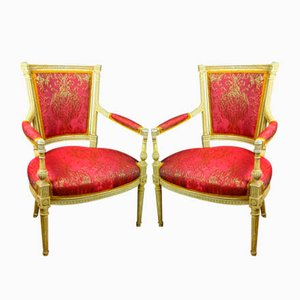 18th Century Louis XVI Armchairs, Set of 2