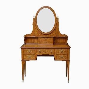 Antique Edwardian Satinwood Dressing Table