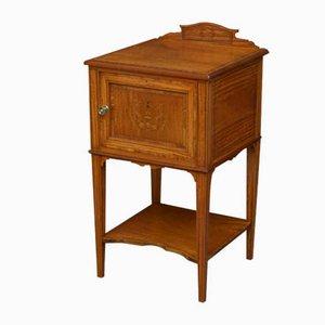 Antique Edwardian Satinwood Bedside Cabinet