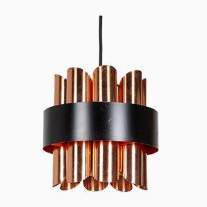 Danish Brass Pendant Lamp by Werner Schou for Coronell Elektro, 1970s