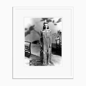 Judy Garland Costume Test Archival Pigment Print Framed in White by Everett Collection