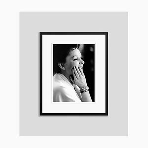 Judy Garland Profile Archival Pigment Print Framed in Black by Everett Collection