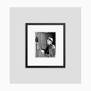 Judy Garland Singing in the Recording Studio Archival Pigment Print Framed in Black by Everett Collection
