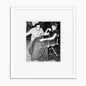 Garland on Set Archival Pigment Print Framed in White by Everett Collection