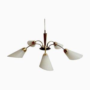 Sputnik Ceiling Lamp in Brass, 1950s