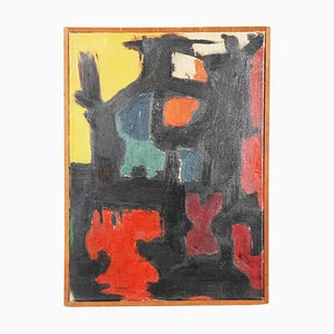 Abstract Oil on Canvas by Baden, 1967