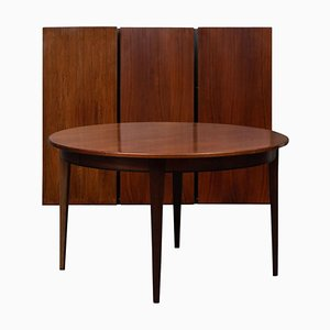 Rosewood Extendable Dining Table from Omann Jun, 1960s