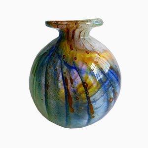 Mundgeblasene Glasvase von Mdina Glass Malta, 1960er