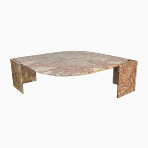 Large Vintage Marble Eye-Shaped Coffee Table from Roche Bobois, 1970s