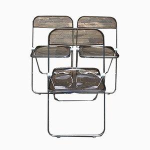 Plia Esszimmerstühle von Giancarlo Piretti für Castelli / Anonima Castelli, 1970er, 3er Set