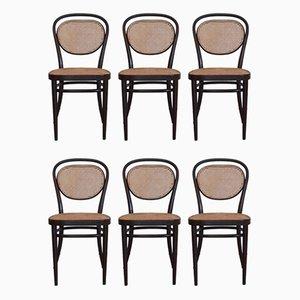 No. 215 R Esszimmerstühle von Michael Thonet für Thonet, 1977, 6er Set