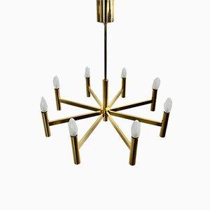 Mid-Century Modern Italian Golden Ceiling Lamp by Gaetano Sciolari, 1960s