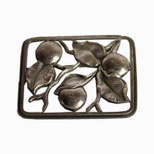 Broche danés de plata de Svend Weihrauch para Frantz Hingelberg, años 30